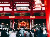 People pray at Sensoji Temple, Asakusa