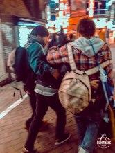 Drunk people in Shibuya